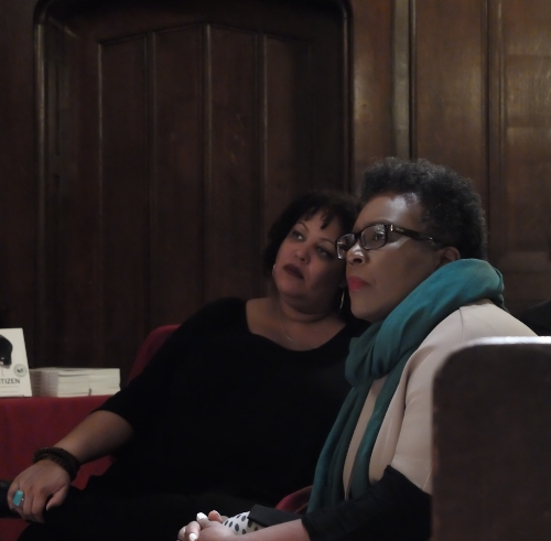 Here we are during  Rankine's  visit to  Reed College , just after the publication of  Citizen.