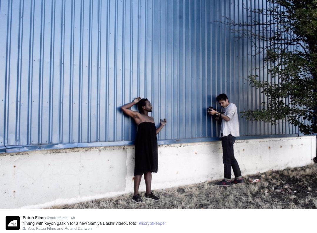 Patua Films' Roland Dahwen Wu  films  Keyon Gaskin  for an upcoming series of short films.