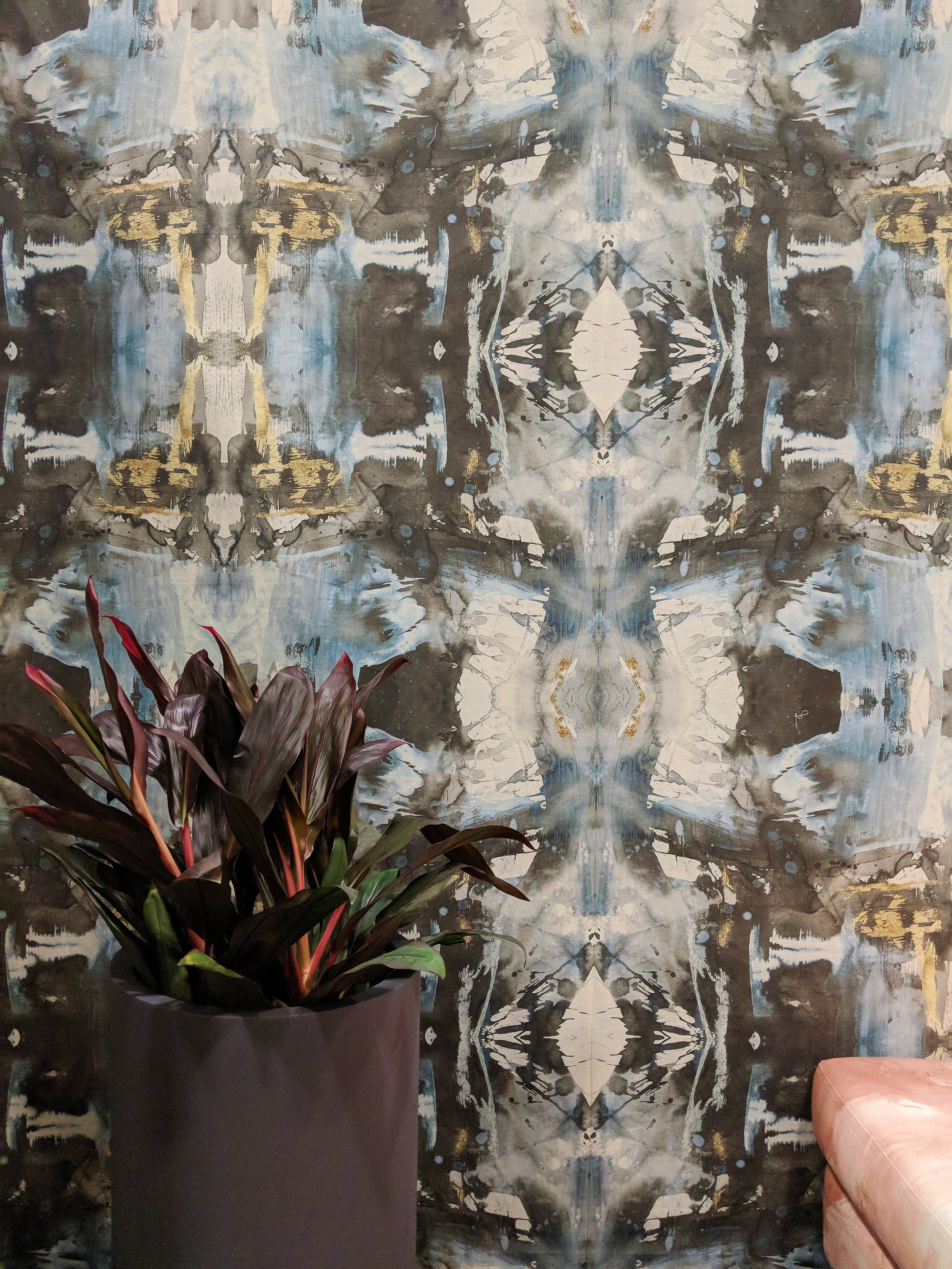 My favorite wallpaper from the VIP lounge designed by Michelle Dirkse