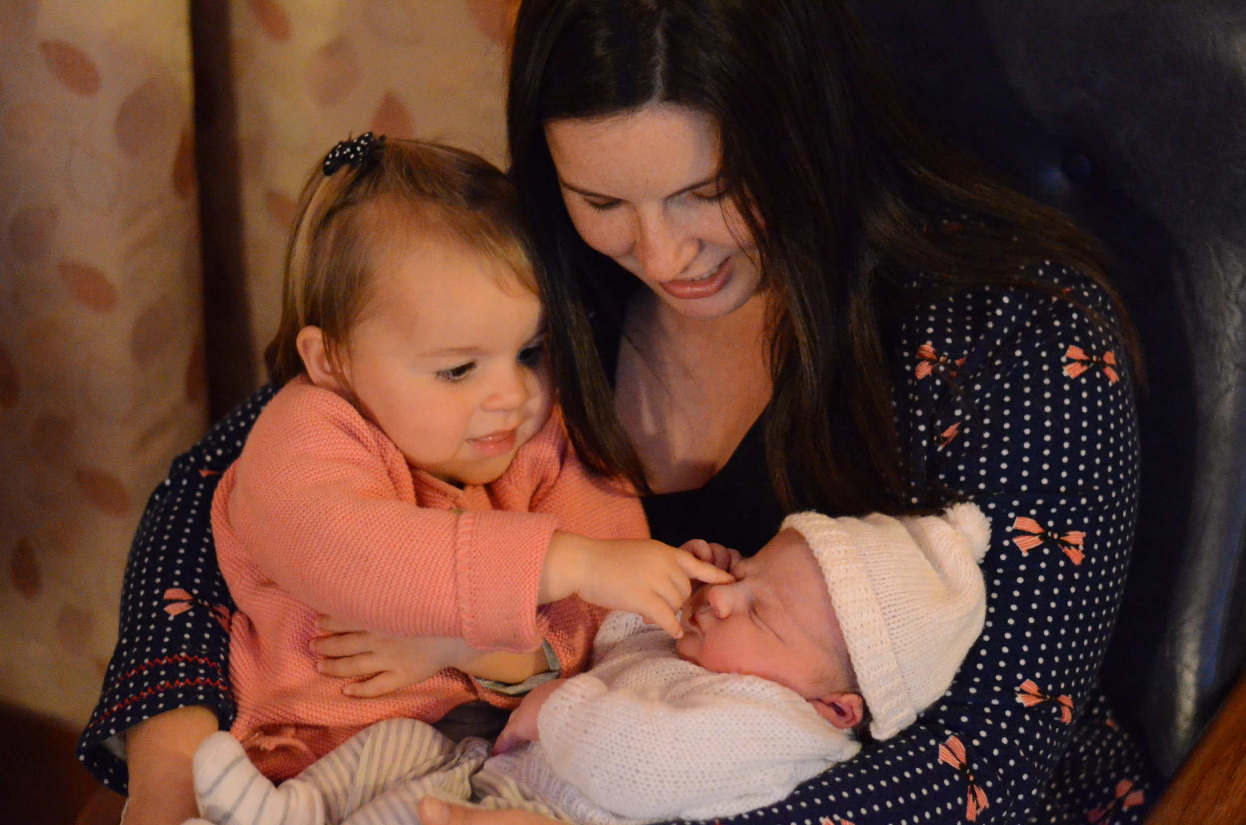 Hannah with her two little ones