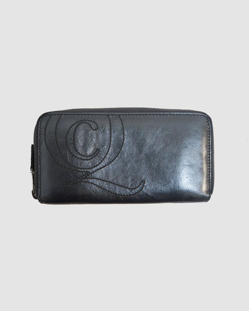 340b77a36 Alexander McQueen Gunmetal Zippy Wallet