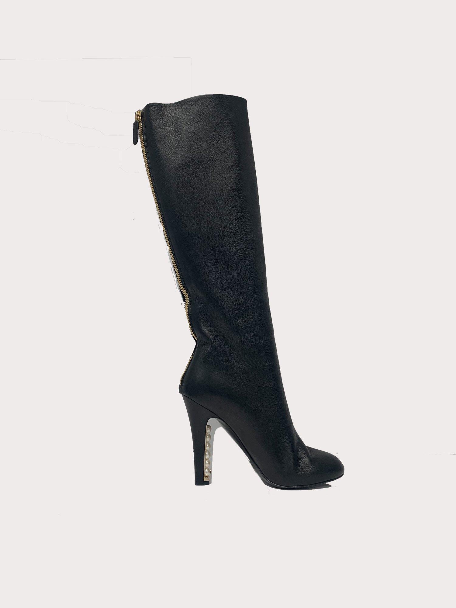 Pearl Heel Boots - $1598