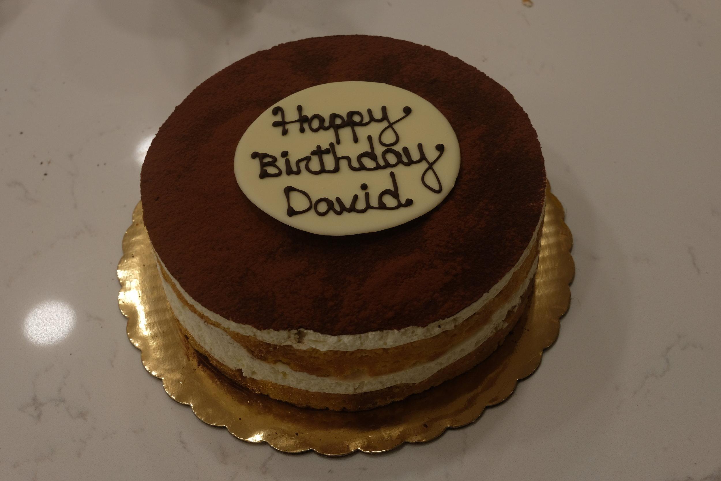 Tiramisu Birthday Cake, 2018