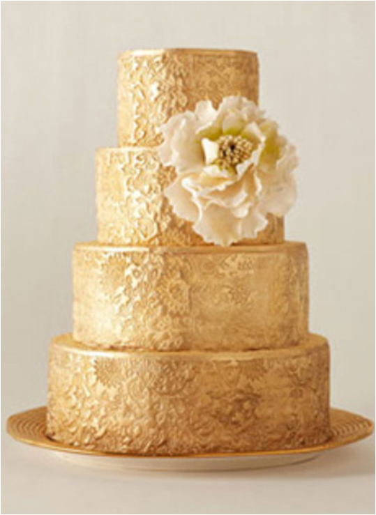 Cake by City Sweets & Confections / via Brides