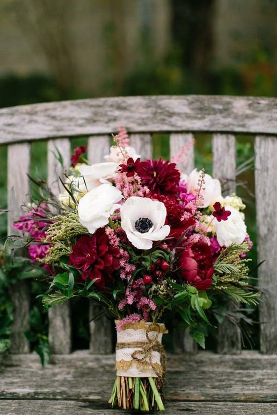 Fall Bouquet on Bench.jpg