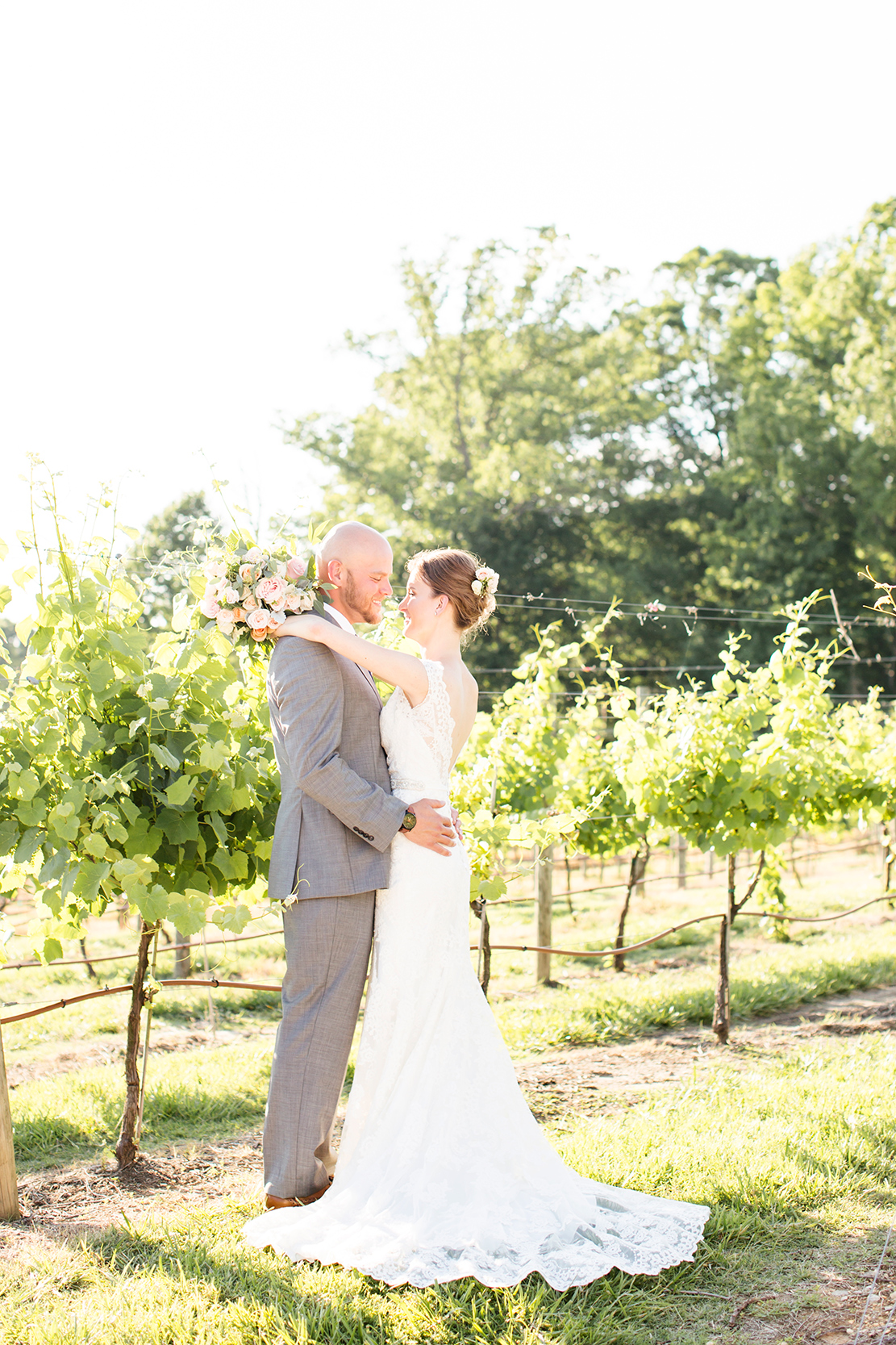 Couple After Outdoor Ceremony at Ashton Creek Vineyard .jpg