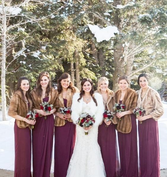 Bridesmaid Party Light Brown Faux Fur Jackets.jpg