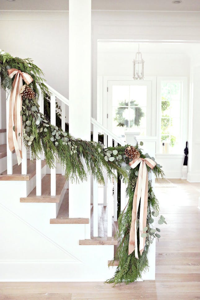 Staircase-Banister-pink-and-green-garland.jpg