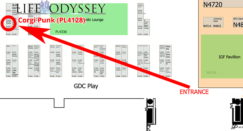 Life Odyssey - Ridiculously Obvious Booth Map