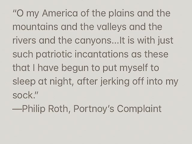 RIP Philip Roth. Portnoy's Complaint is the funniest book ever.