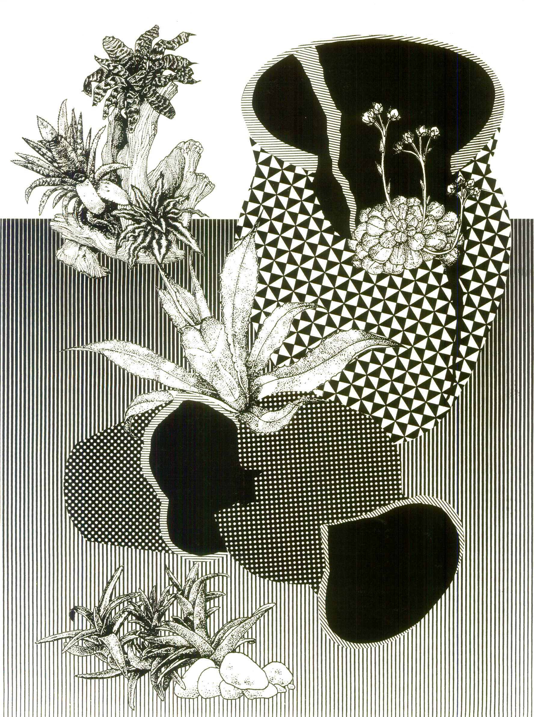 "Some day plants will cover everything  Screenprint  18"" x 24""  2014"