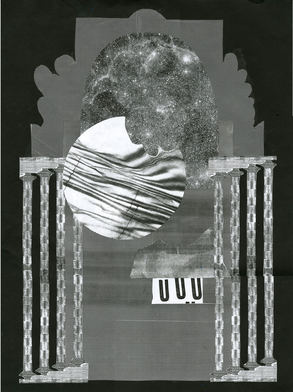 "Xerox collage  18"" x 24""  2011"