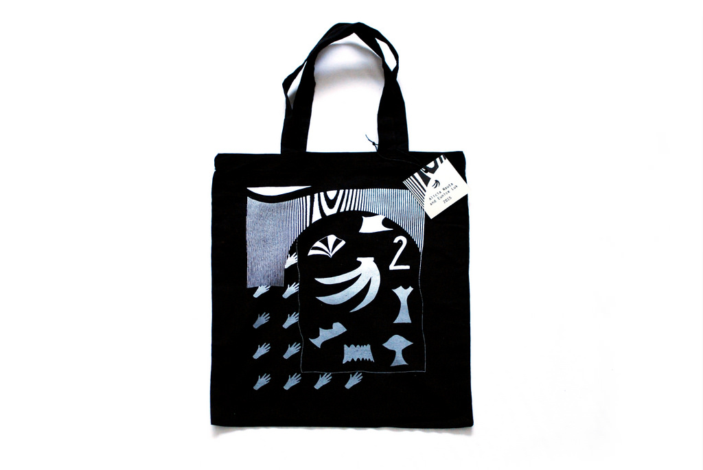 Under the boardwalk  Eunice Luk and Alicia Nauta  Screenprint on canvas tote bag  2015
