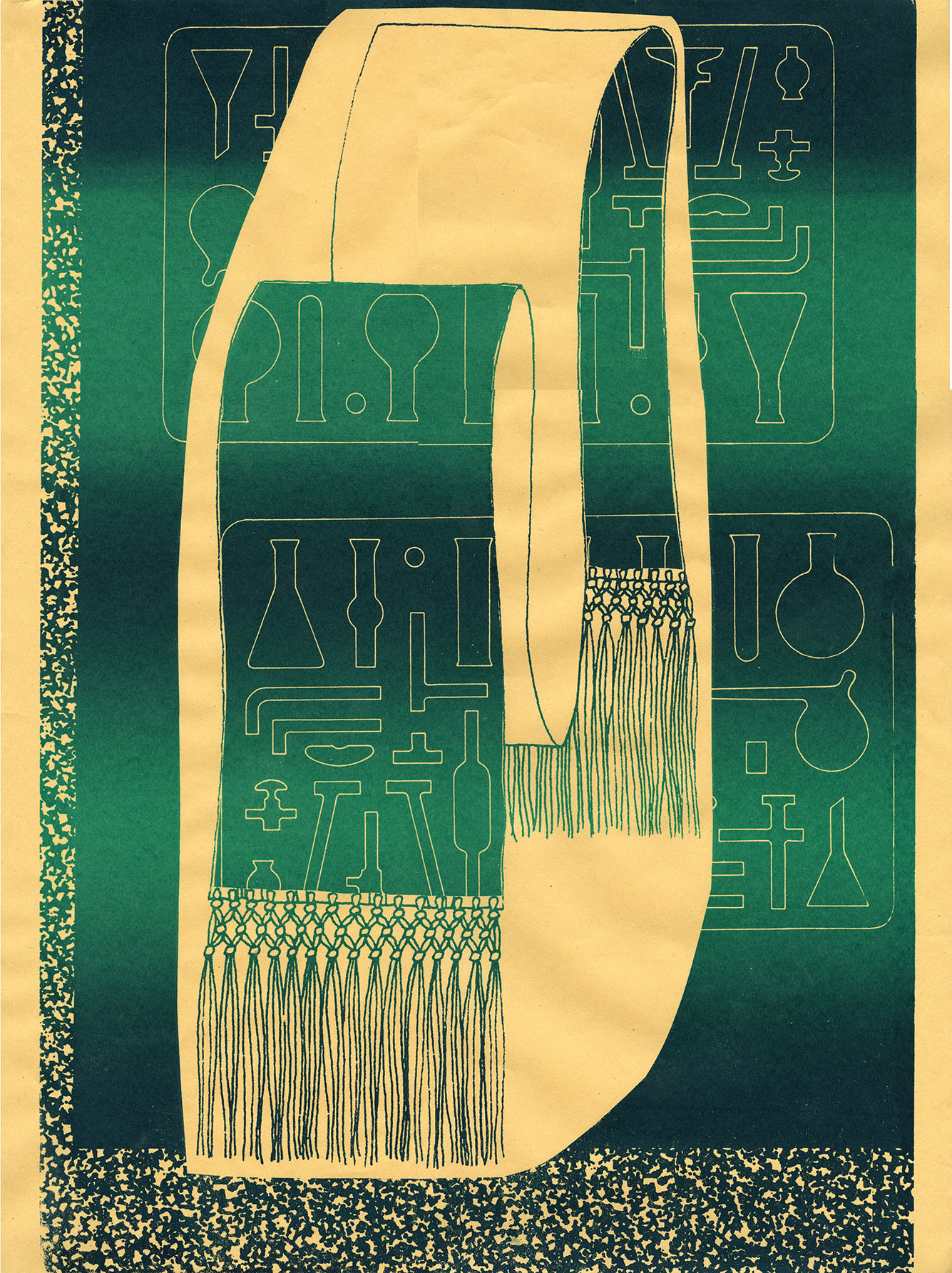 "Table of Elements  Screenprint  18"" x 24""  2012"