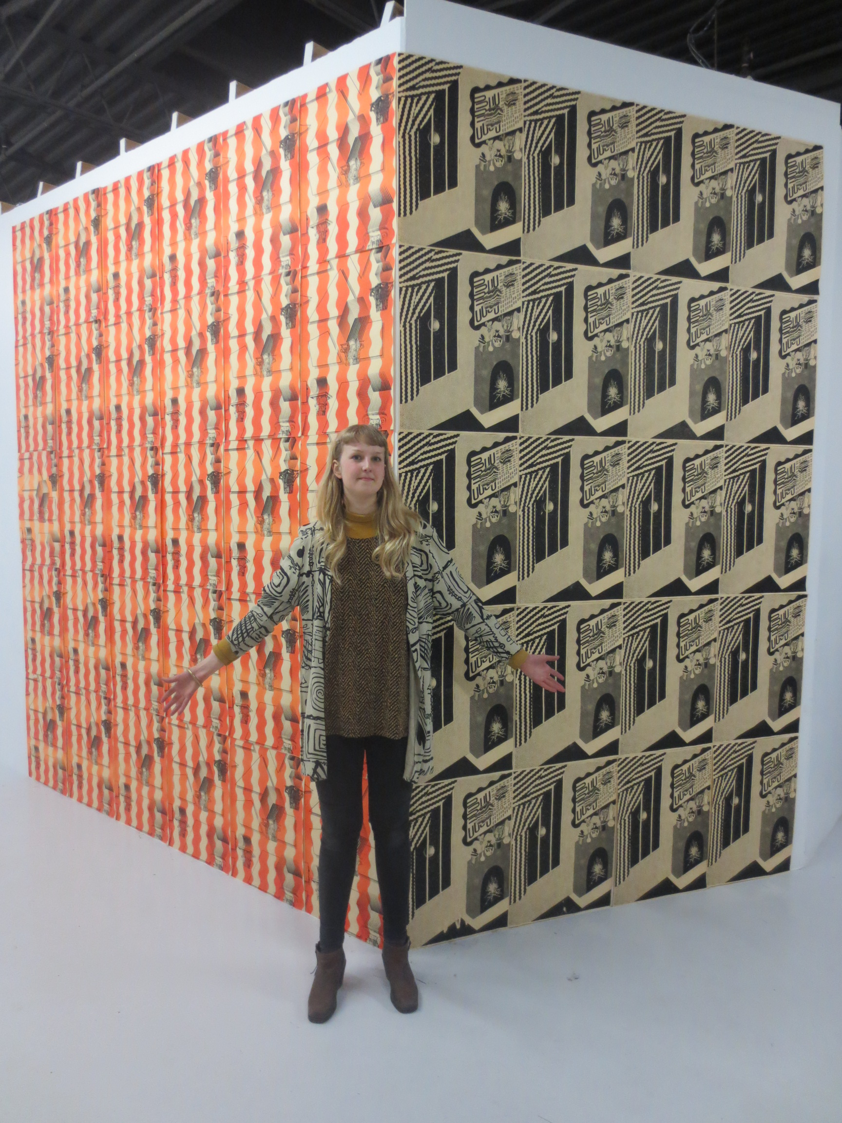 Feast in the East, Toronto  Screenprinted wallpaper installation  2012