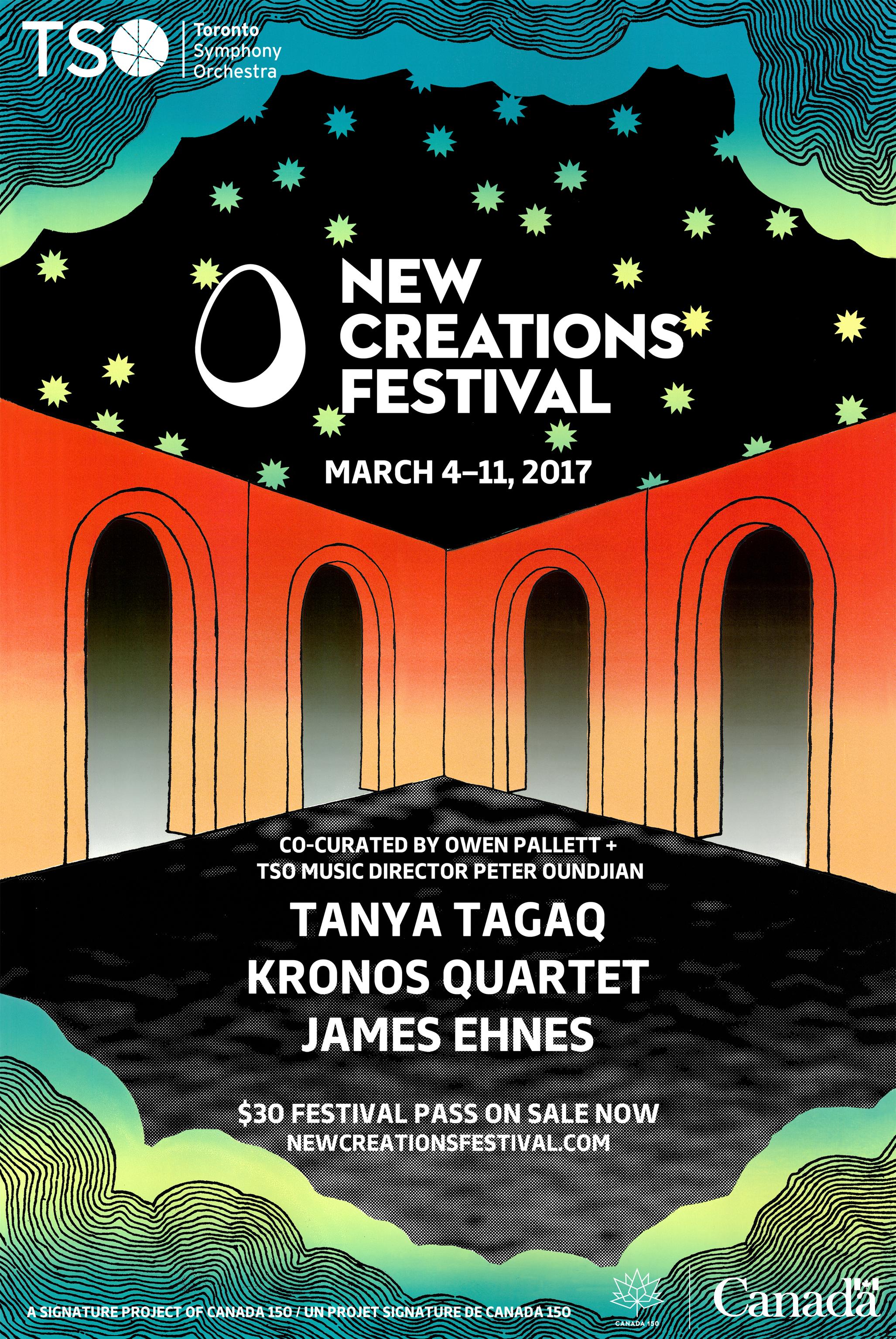 "New Creations Festival 2017  Screenprint  18"" x 27""  2017"