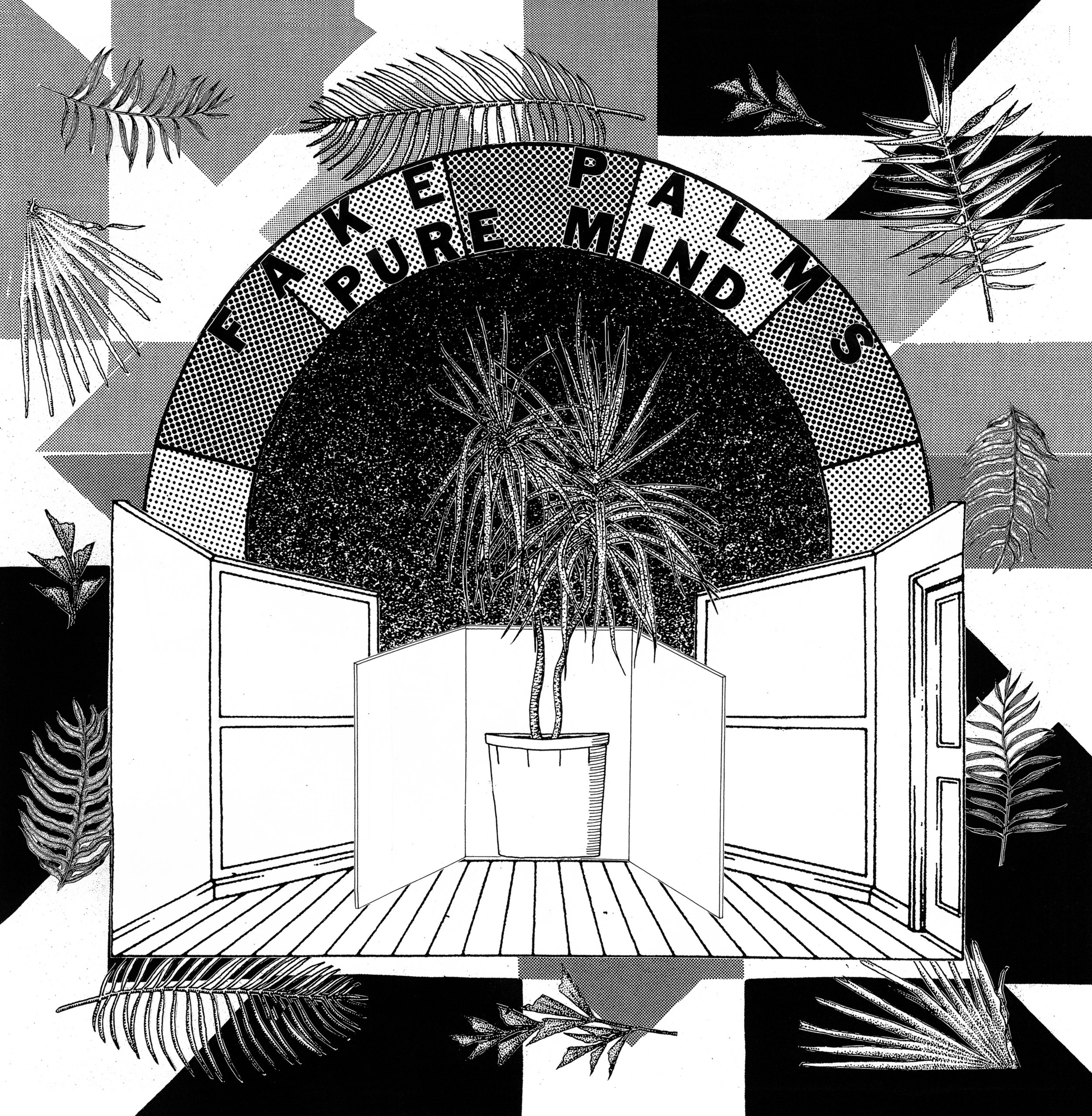 """front cover  Fake Palms, Pure Mind 12"""" LP  2017"""