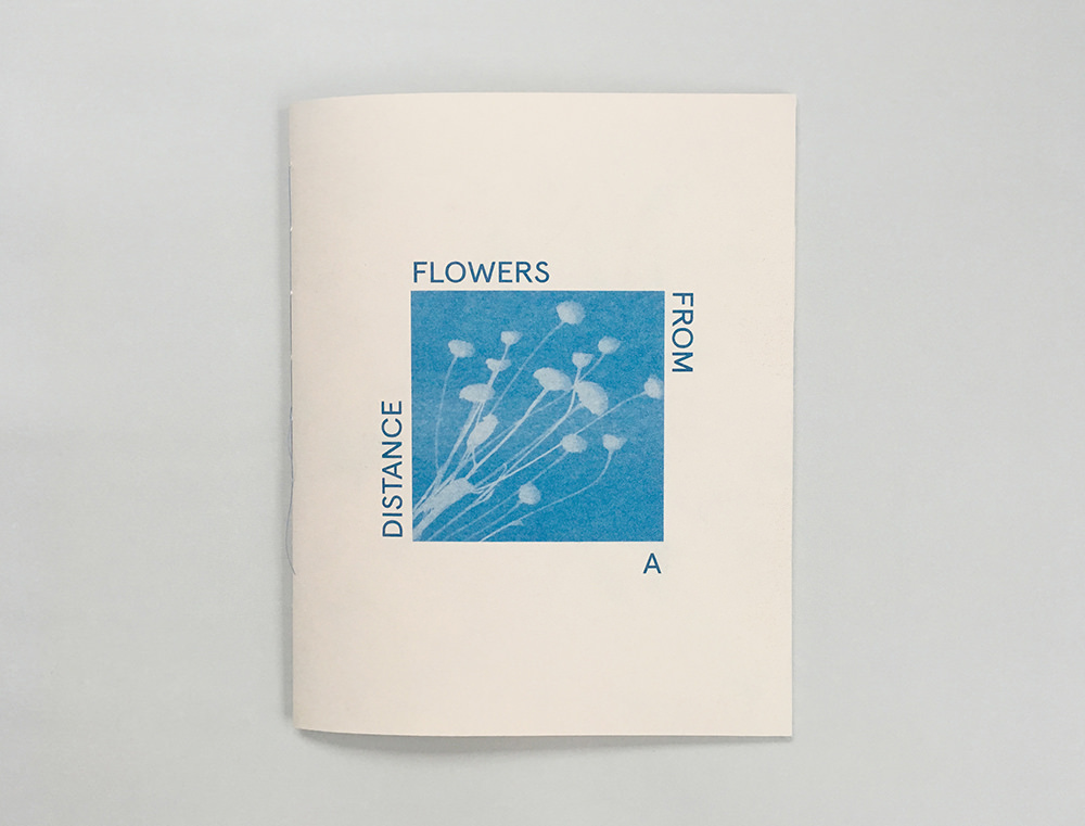 Flowers from a distance  collaboration with Eunice Luk  32 pages, risograph and thermograph printed, hand sewn binding  2017