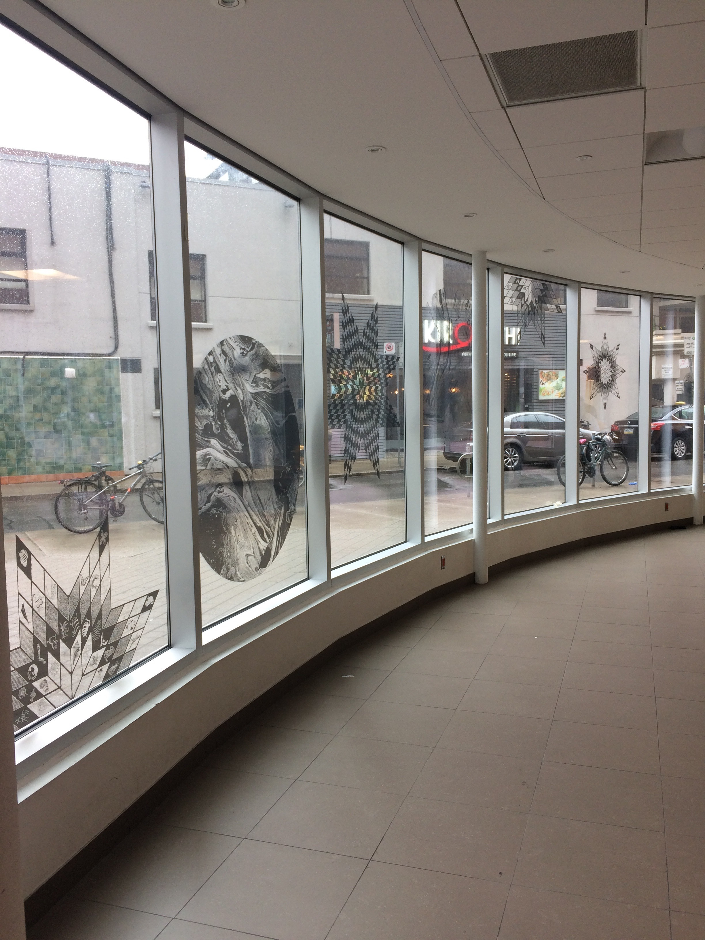 Wandering Star  window vinyl installation  the Browsery at Toronto Reference Library, Toronto  spread across window area of 8ft x 60ft  2019