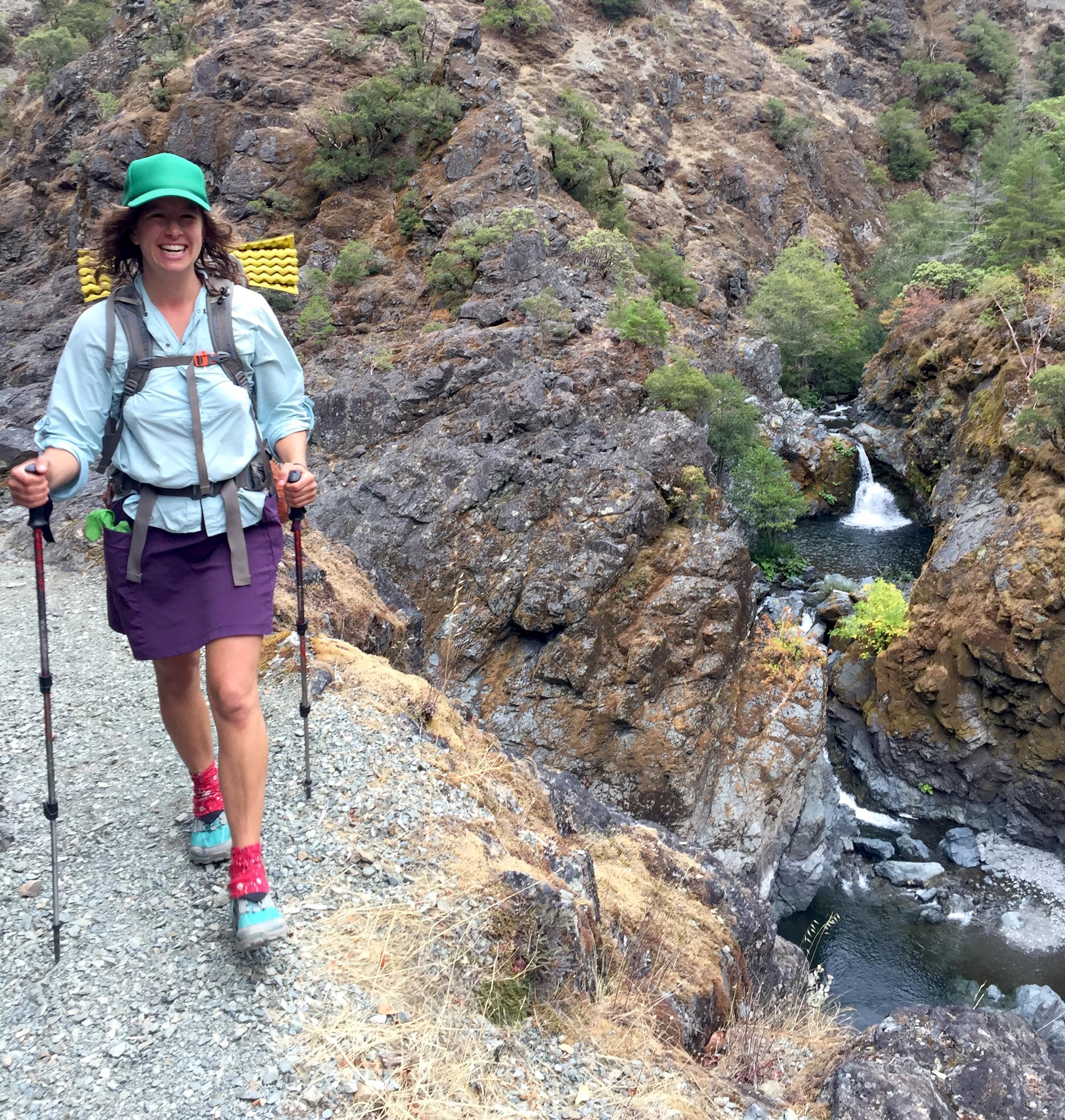 Purple Hiking Backpacking Skirt
