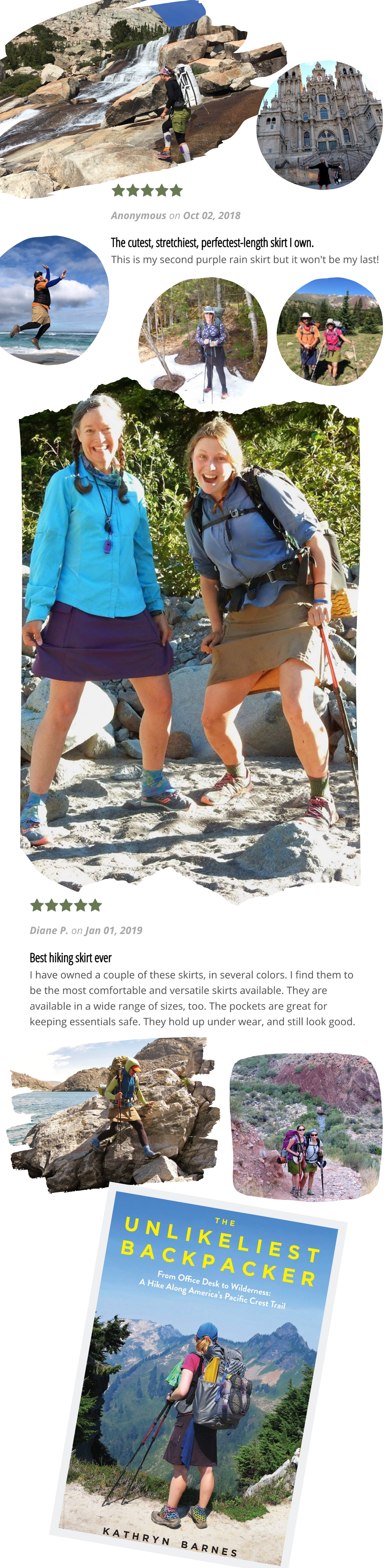 Purple Rain Adventure Hiking Skirts Customer Pictures Testimonials Reviews