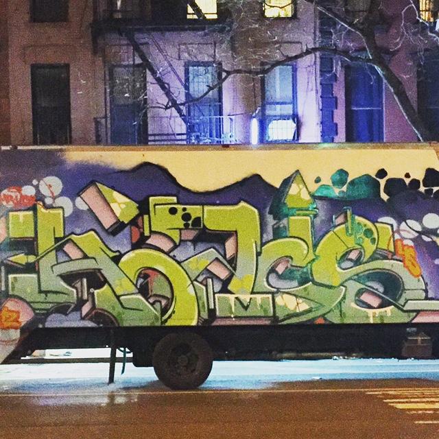 HOACS Van posted up in East Village