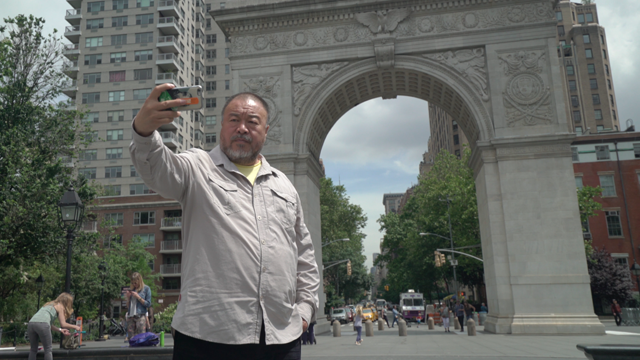 """Public Art Fund will unveil Ai Weiwei's unprecedented 300+ site exhibition  Good Fences Make Good Neighbors  across New York City's five boroughs.   Join us this Wednesday evening from 5:30 to 6:30pm at the Washington Square Arch  for a  special public preview  of the exhibition with  Ai Weiwei, our Director & Chief Curator  Nicholas Baume, and other passionate friends and supporters of the exhibition.  Let us know if you can come, and share the event with your friends on   Facebook  !  And in case you missed it... Ai Weiwei took a walk around Washington Square Park with   The New York Times   , while gearing up for the opening of #GoodFences, the premiere of his new documentary  Human Flow , and the opening of his curated film series (in partnernship with Wang Fen) at the Guggenheim, revealing:"""" I'm   hopelessly in love with this city ."""""""