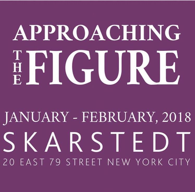 Skarstedt Gallery is pleased to present the exhibition, Approaching The Figure, a group show featuring work by George Condo, Willem de Kooning, Eric Fischl, Mark Grotjahn, KAWS, Martin Kippenberger, Jeff Koons, Joan Miró, Thomas Schütte, Rosemarie Trockel, and Rebecca Warren at Skarstedt Upper East Side, 20 East 79th Street, New York, NY 10075. This curation of contemporary and modern masters explores the nature of figuration, and examines how artists employ this historical genre. Approaching The Figure embraces both scale and spectacle, juxtaposing the various sculptures in ways that reveal moments of beauty, drama, humor, and humility.  Bear and Policeman from 1988, one of the notorious works from Koons' provocative Banality series is simultaneously innocent and menacing. Cast in polychrome wood, this 7foot looming sculpture beckons the viewer to reconcile between a fanciful response, and one of disquiet and unease. Reminiscent of the charming and ornate knick-knacks from the 18th century, here Koons challenges preconceived notions for the high and low in a subverted conceptual, and provocative manner. Manipulating the scale of the figures by enlarging the furry bear and dwarfing the policemen, Bear and Policeman conveys a poignant metaphor of art and power, whereby the morality of those involved is continuously tested.  Eric Fischl, known for his masterful figurative paintings, imbues his sculptures with the same piercing sensitivity and raw human emotion. In Ten Breaths: Tumbling Woman II, a bronze sculpture from 2007, we see the female nude frozen mid-fall; its composition rendered all the more poignant for its visceral narrative. It is challenging to separate this sculpture from the dramatic controversy it spawned back in 2002, when Fischl was called upon to un-install a similar piece from Rockefeller Center. Claimed to have caused outrage due to the unhealed wounds of 9/11, the Tumbling Woman sculpture was what Fischl says, his sincere way of bringing people 