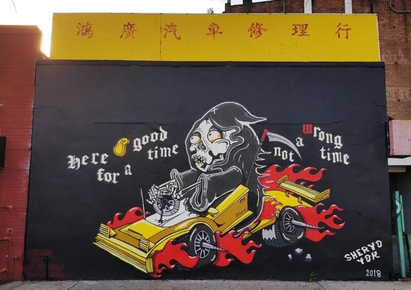 Yok & Sheryo at Jack & Tony's Garage Sunset Park, Brooklyn June '18