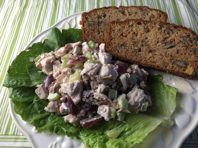 Chicken Salad and Banana Pineapple Bread
