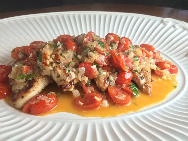 Chicken with Tomatoes and Basil