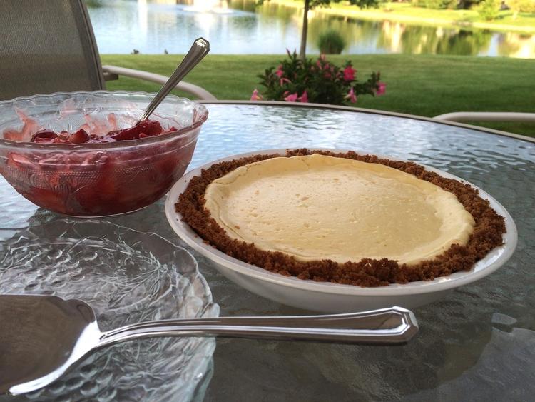 Strawberry Lemon Cheesecake Pie