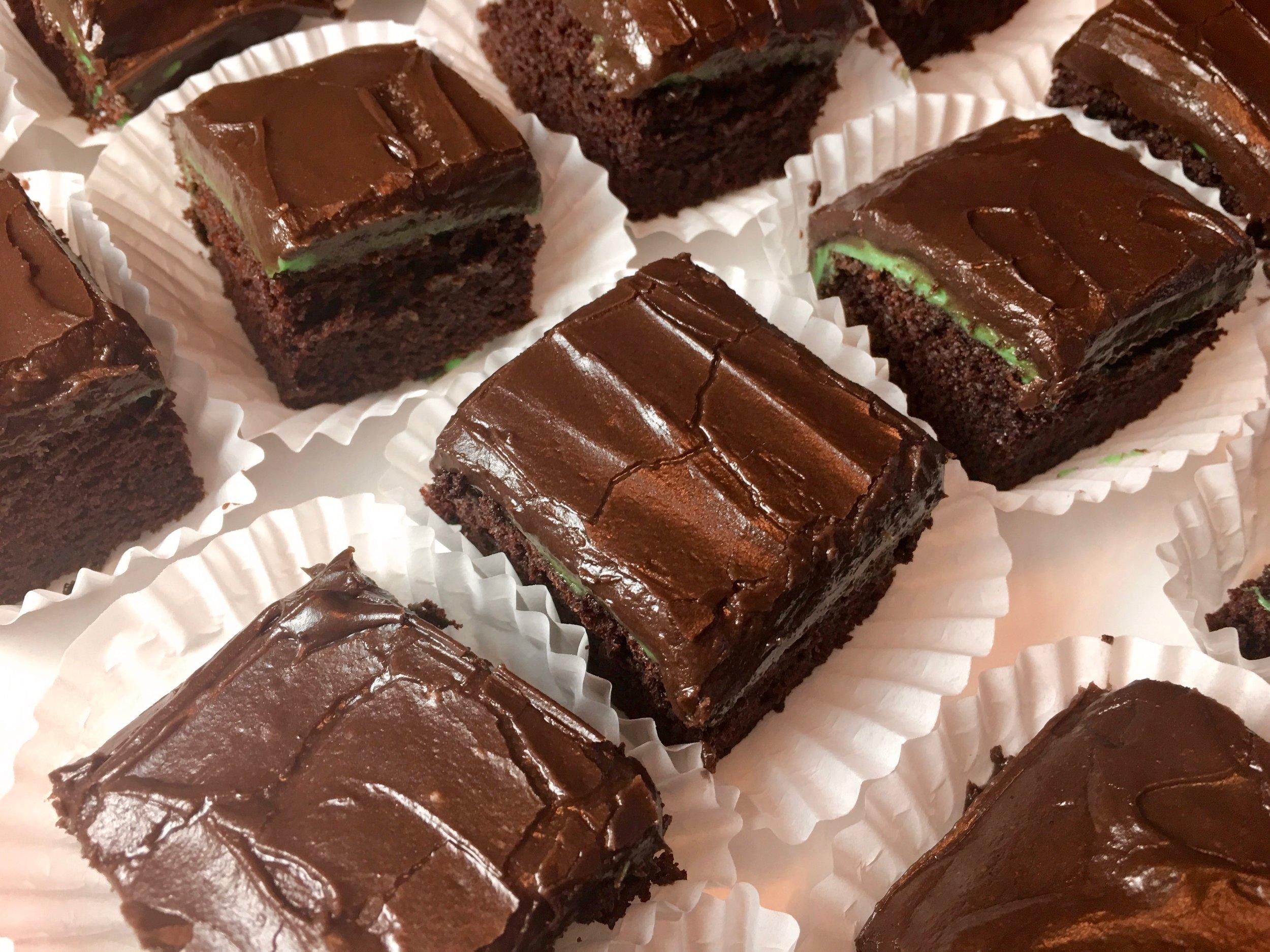 Dark Chocolate Mint Sheet Cake
