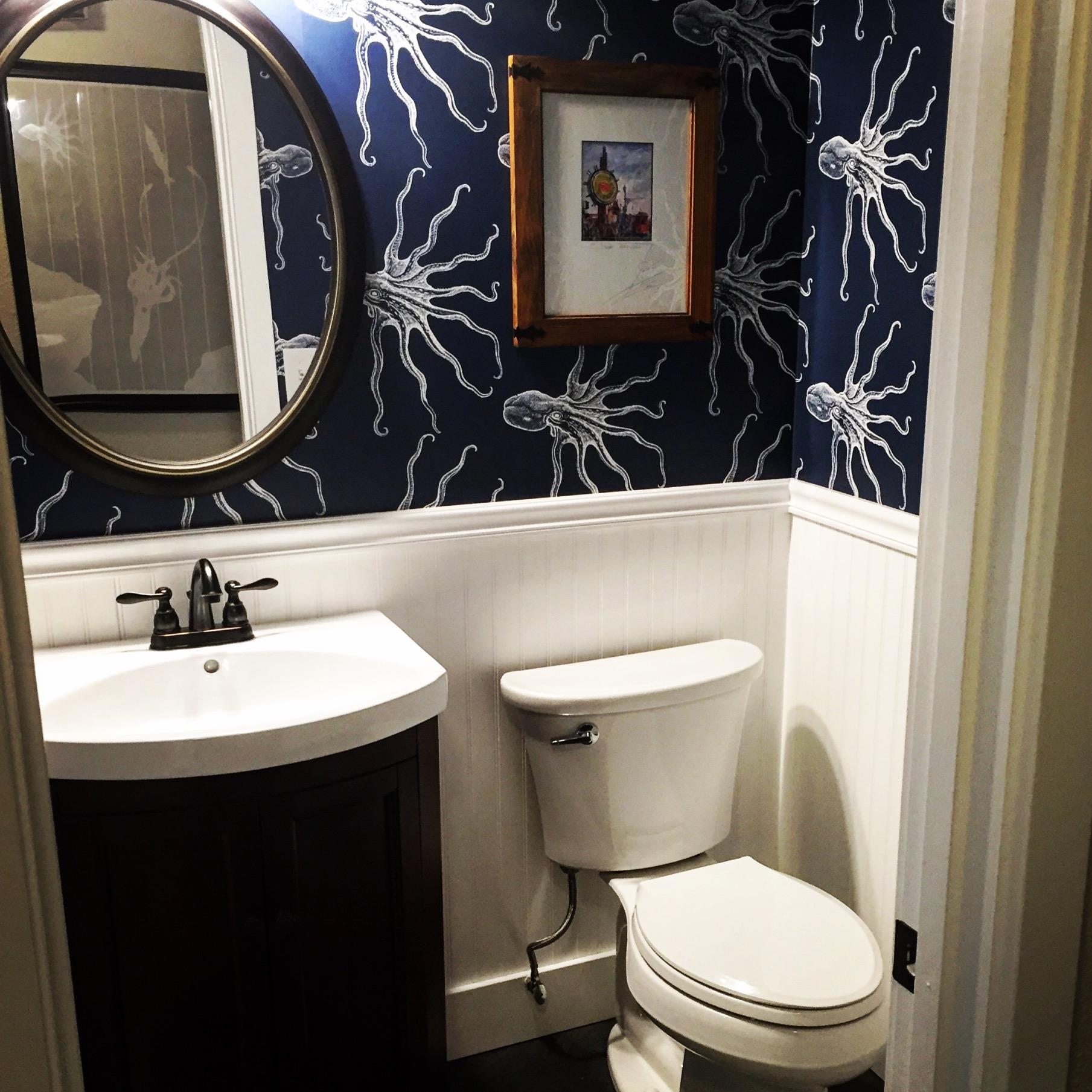 My powder room. I love my little octopi.