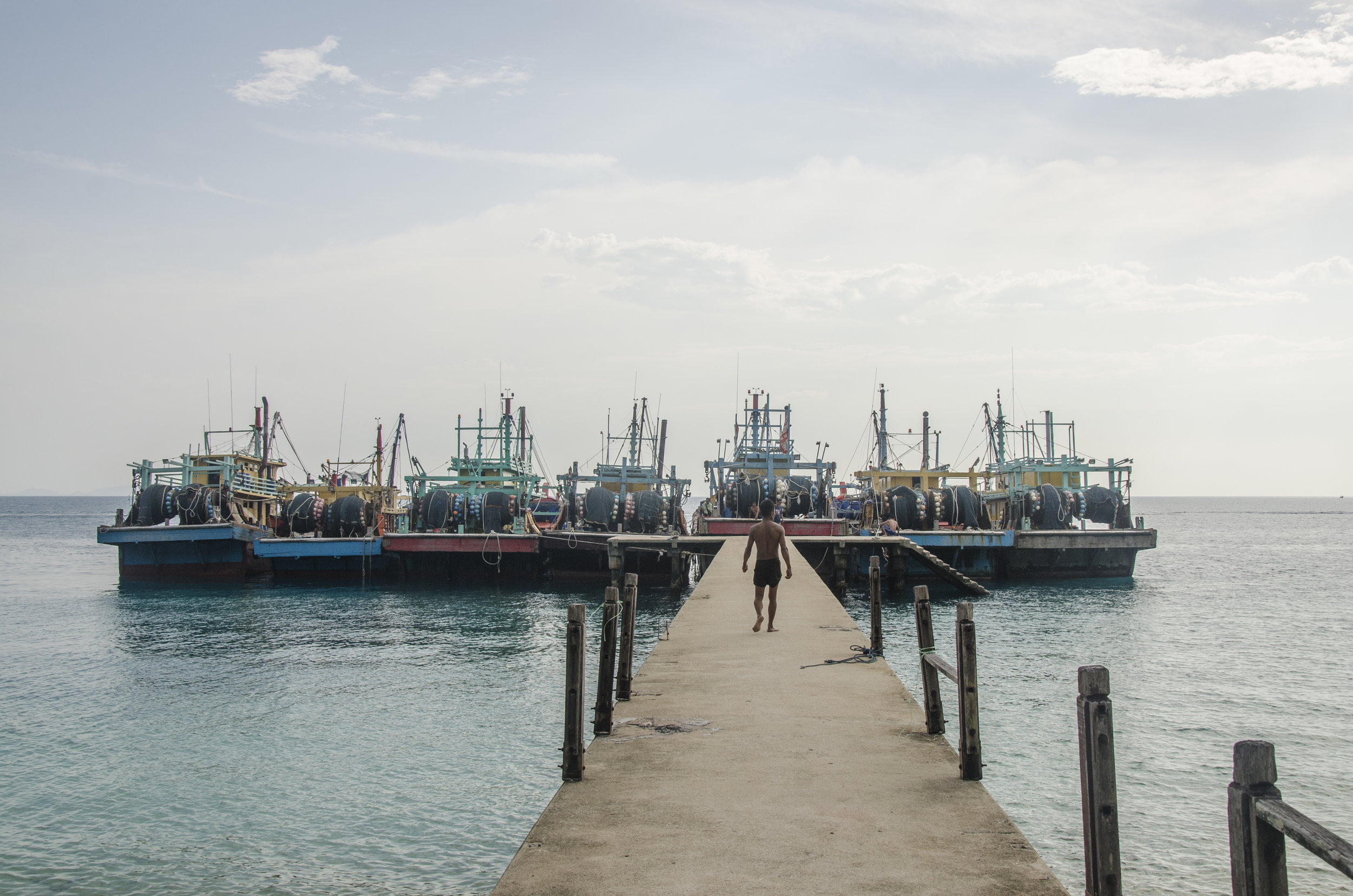 Fishing Boats Docked on the Perhentian Islands