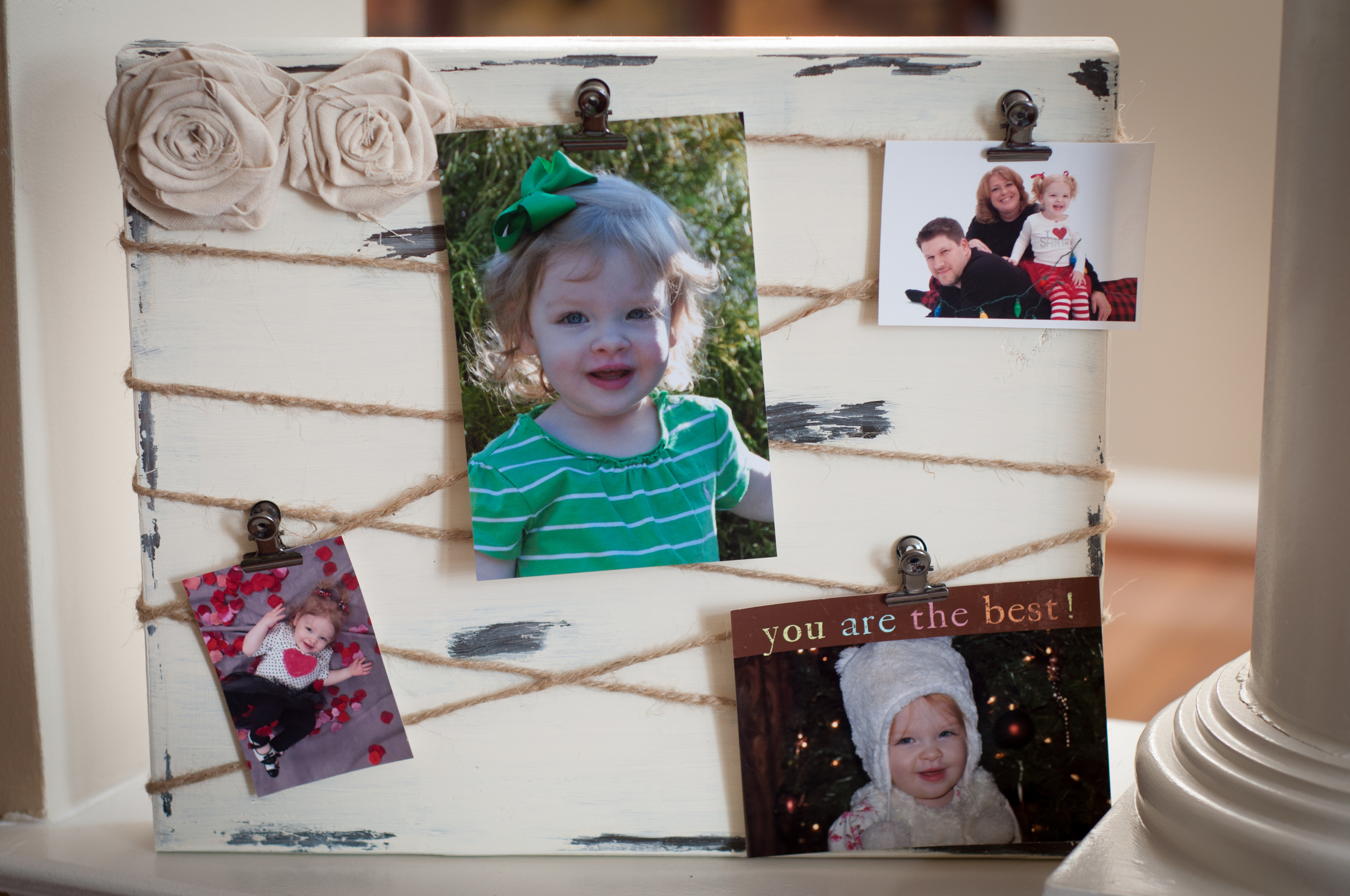 Distressed Photo Display