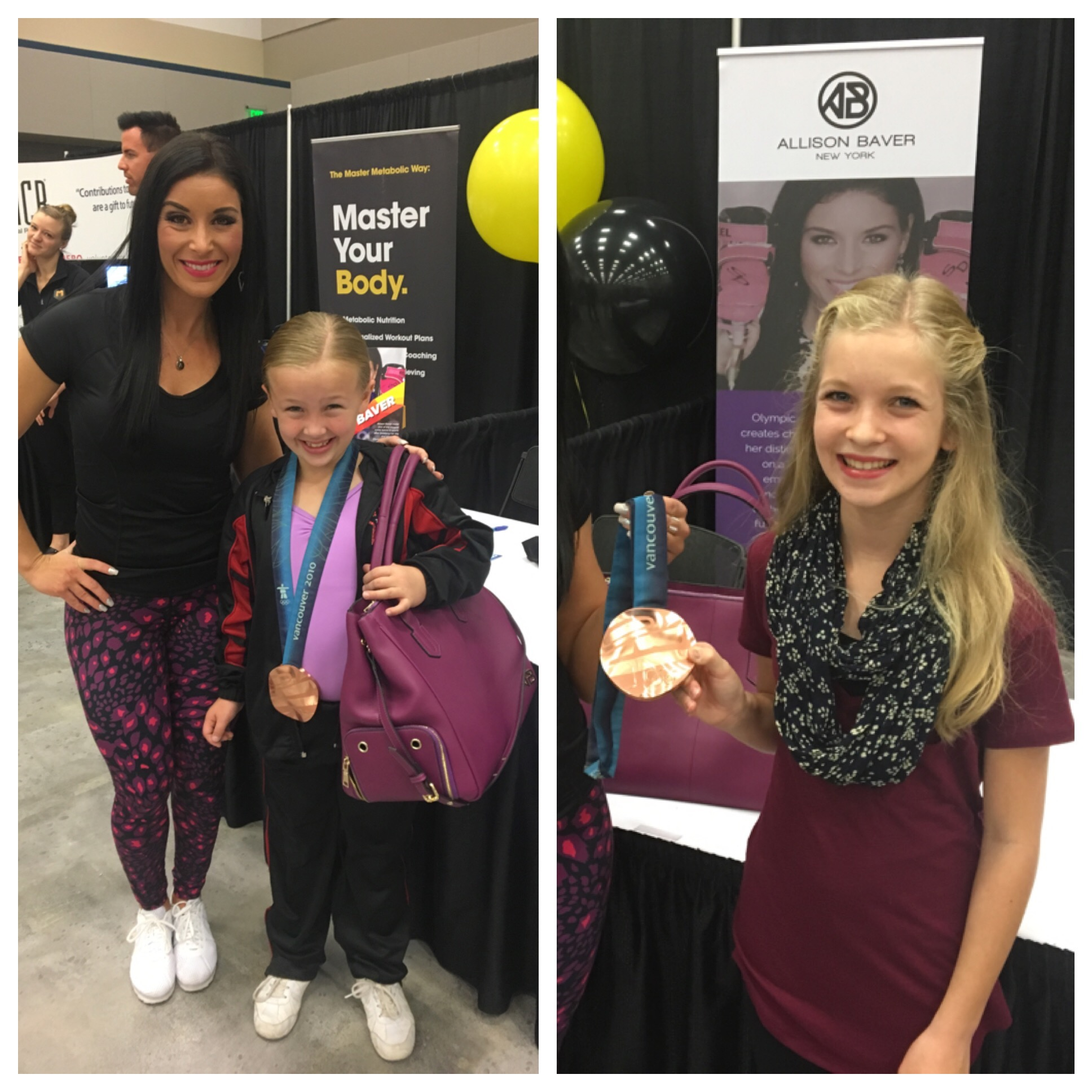 Here I am showing off the shirt, leggings, and tote I designed. Aren't these little girls are adorable.  They are so excited to see my medal. Future Boss Babes! The one I'm standing with is a dancer. She waited an hour with her Mom to listen to my speech.  Awe.
