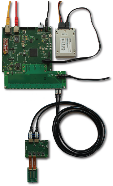 Willow FPGA board and storage drive.