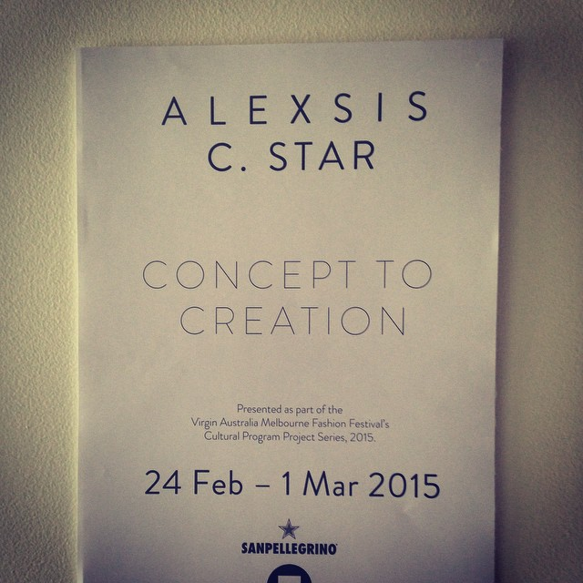 VAMFF cultural program exhibition. #alexsiscstar #vamff #novacancygallery #fashion