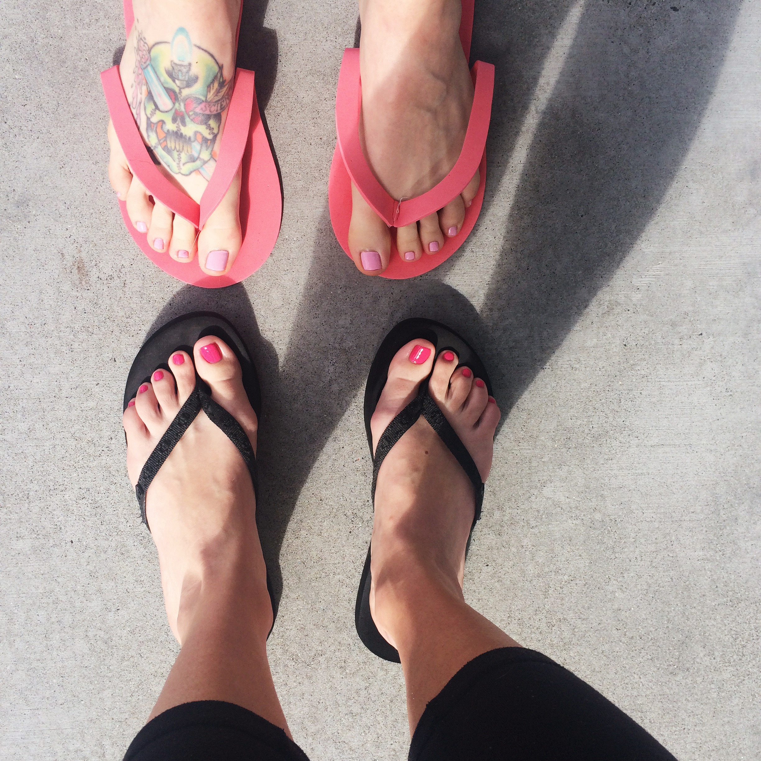 Find time for relaxation with girlfriends, like going for a walk, getting a pedicure, or just hanging out.