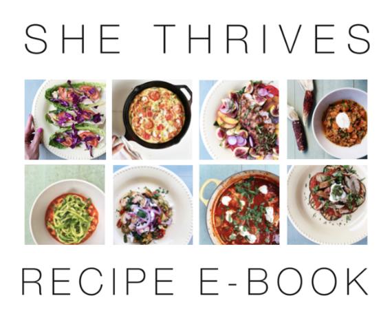 She Thrives Recipe E-Book
