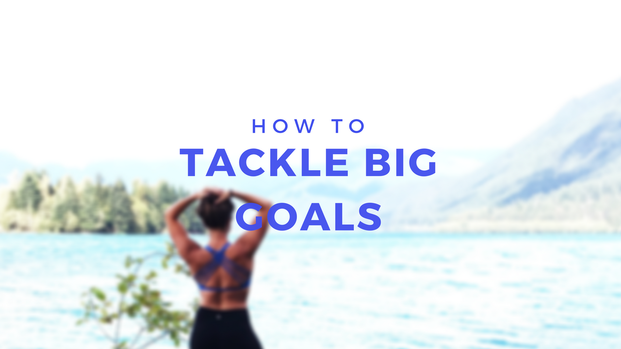 How to tackle big goals