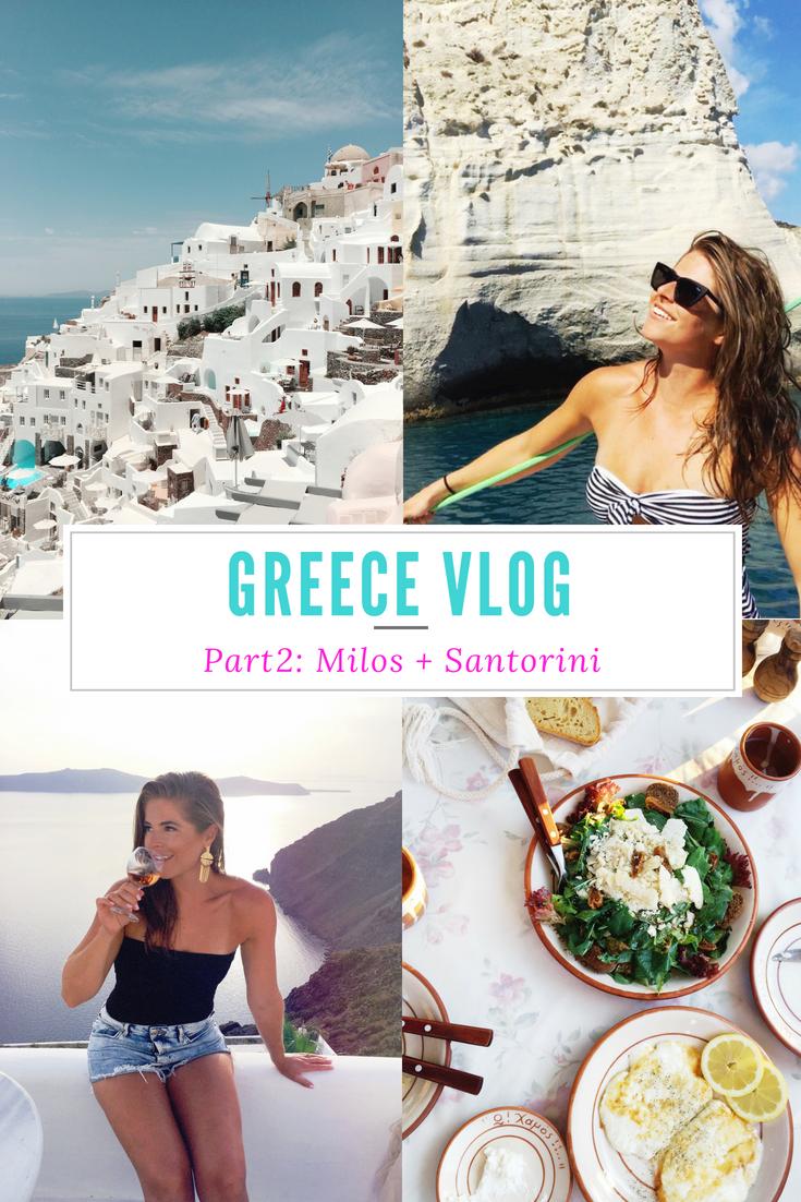 Greece Vlog Part 2: Milos + Santorini | SHE THRIVES