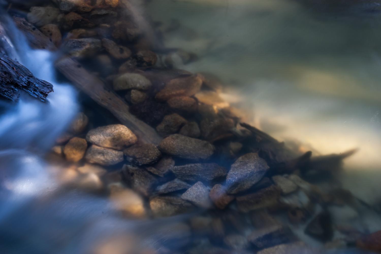 Reflections in a stream, High Sierra, California - 2004