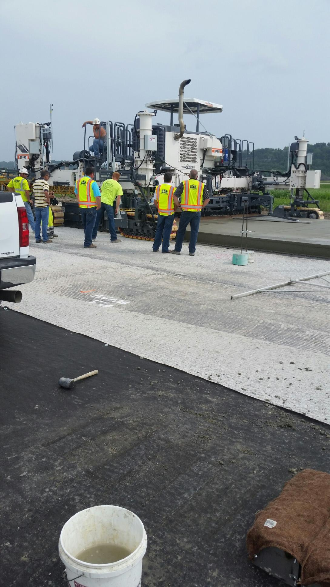 Lehman construction Paving Runway 12/30 at Jefferson City Airport - Catches attention of other contractors