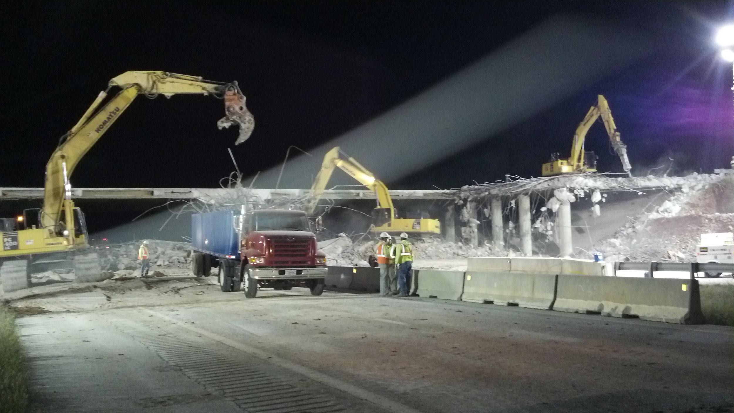 Rte. 160 Bridge demo over I-44 Springfield, MO
