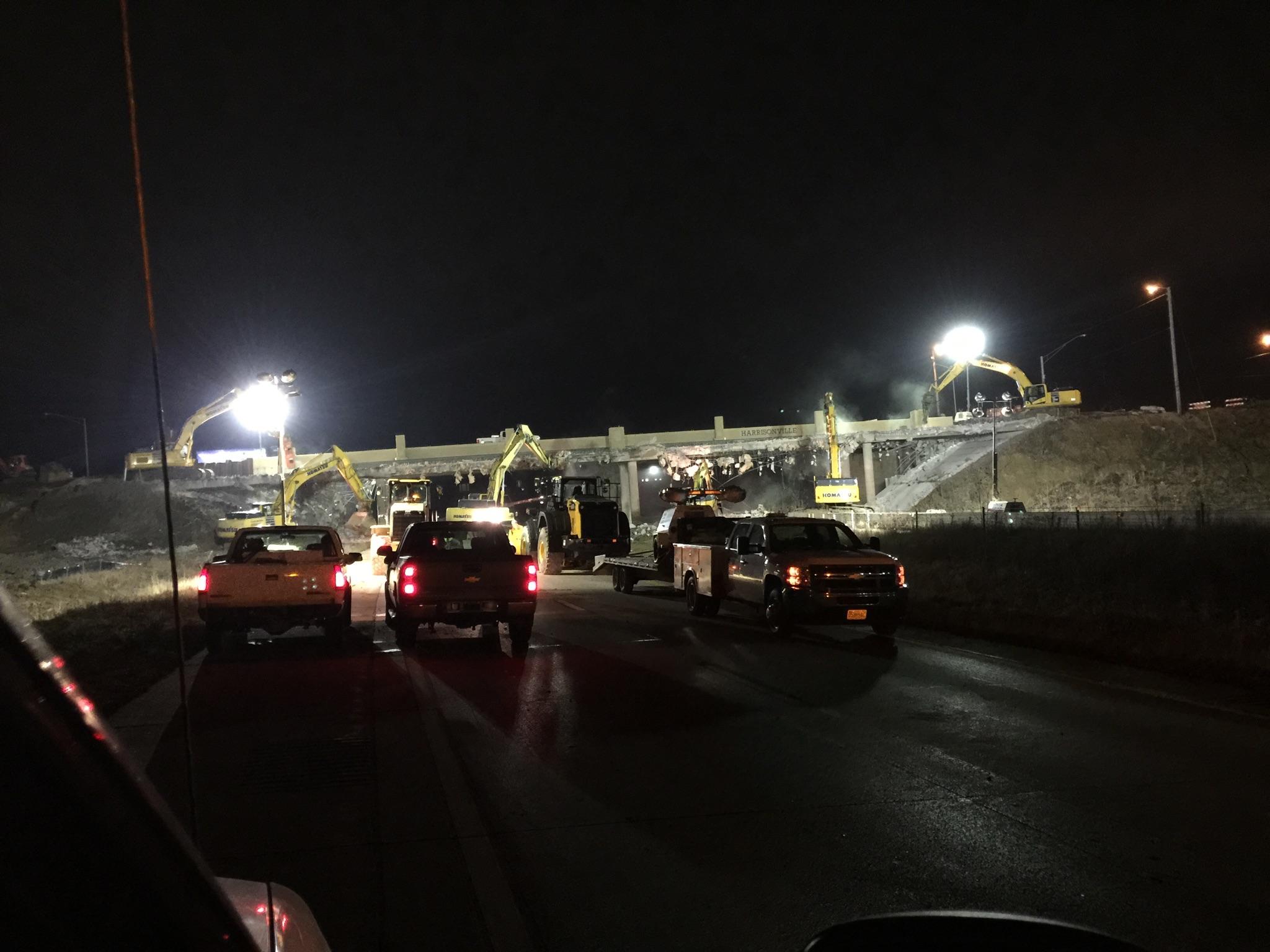 Rte. 291 bridge demo over I-49, Harrisonville, MO