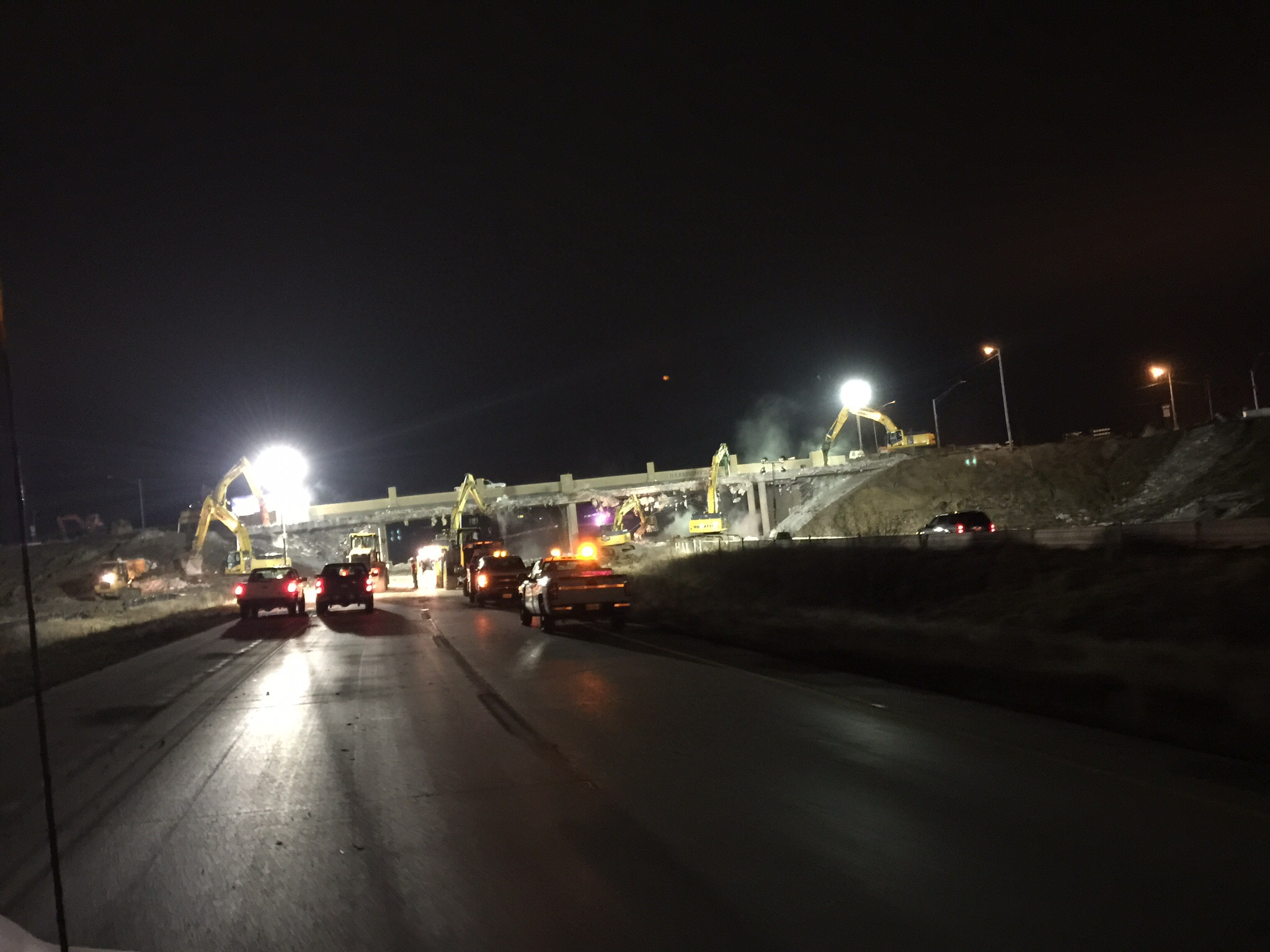 Rte. 291 Bridge Demo over I-49, Harrisonville, MO
