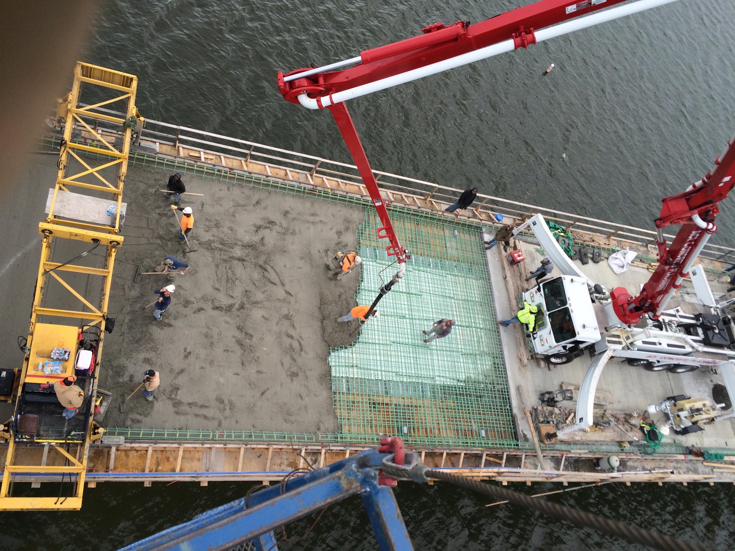 Rte. 215 Bridge over Stockton Lake Bridge Deck pour