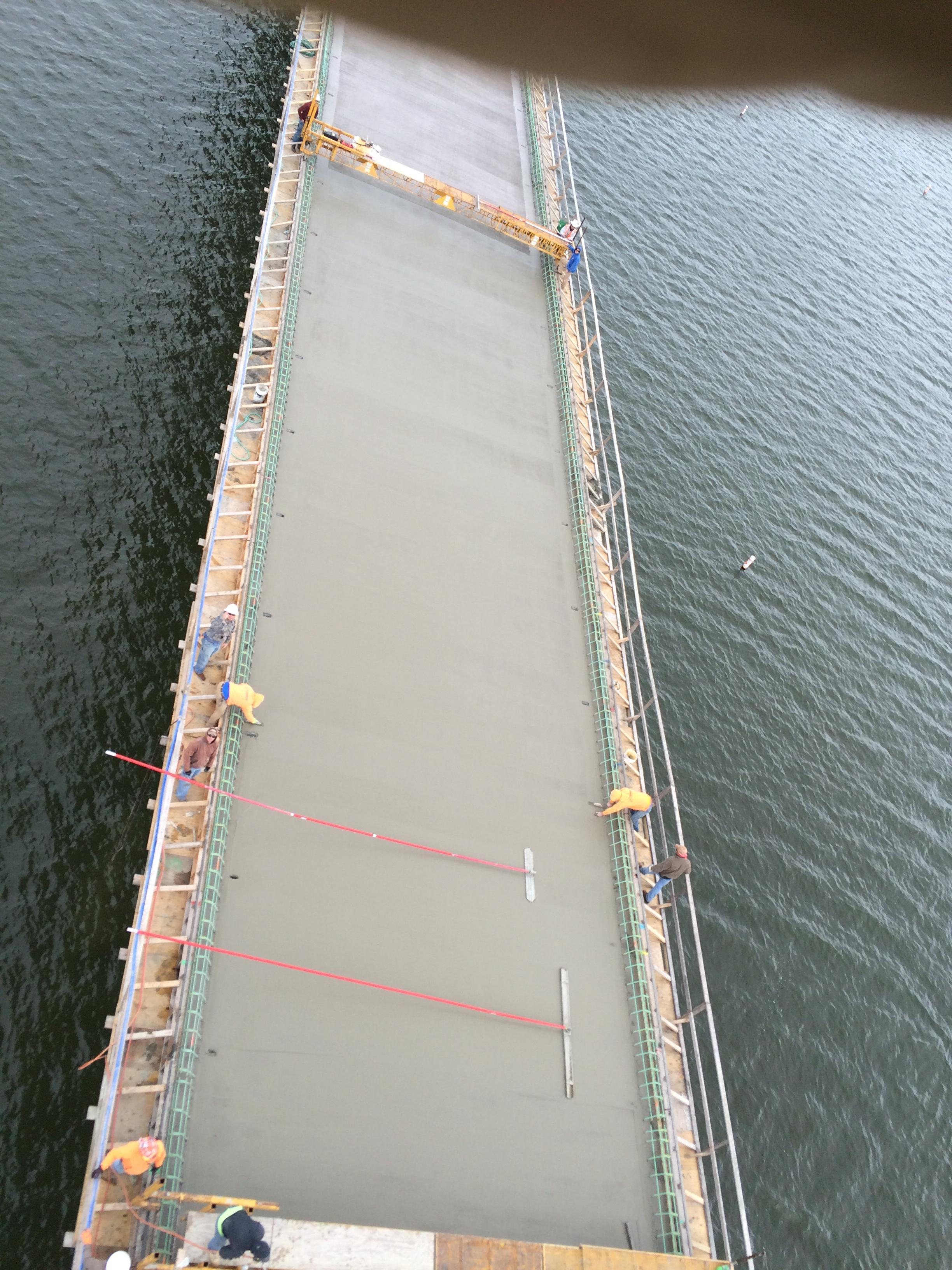 Rte. 215 Bridge over Stockton Lake finishing bridge deck